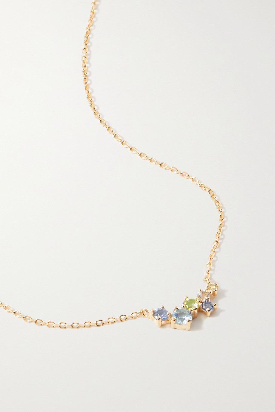 STONE AND STRAND Gold multi-stone necklace