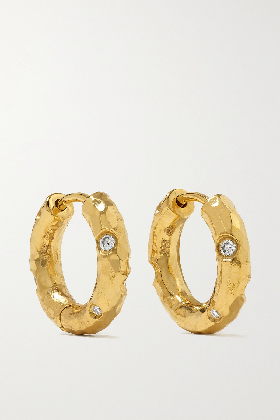 Octavia Elizabeth Boucles d'oreilles en or 18 carats (750/1000) recyclé et diamants Petite Gemmed Gabby - NET SUSTAIN