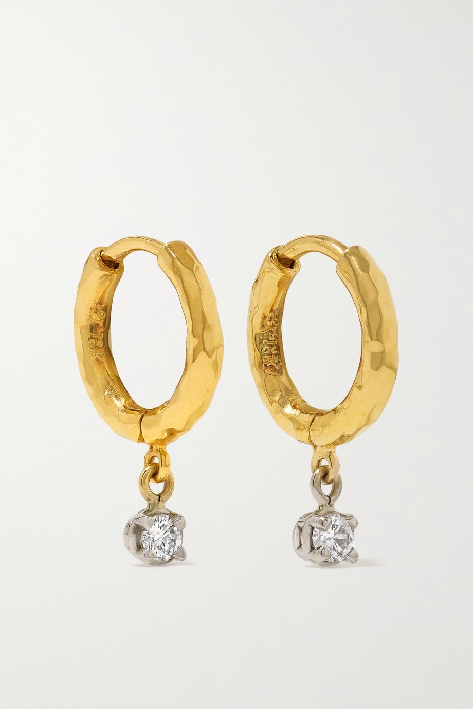 Octavia Elizabeth + NET SUSTAIN Micro Gabby 18-karat recycled gold diamond hoop earrings