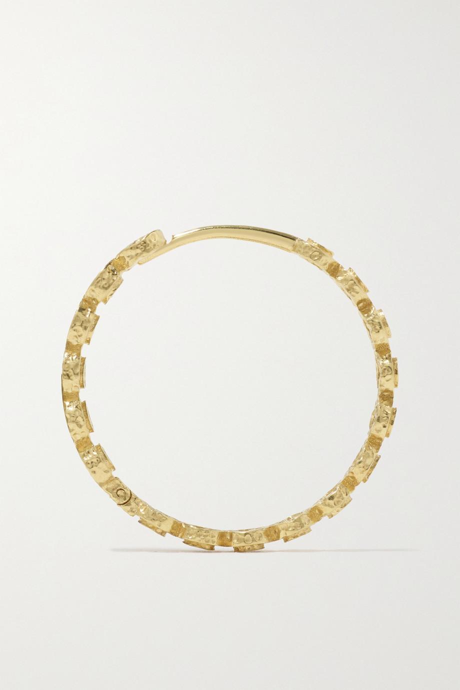 Octavia Elizabeth + NET SUSTAIN Chloe Creolen aus recyceltem 18 Karat Gold mit Diamanten