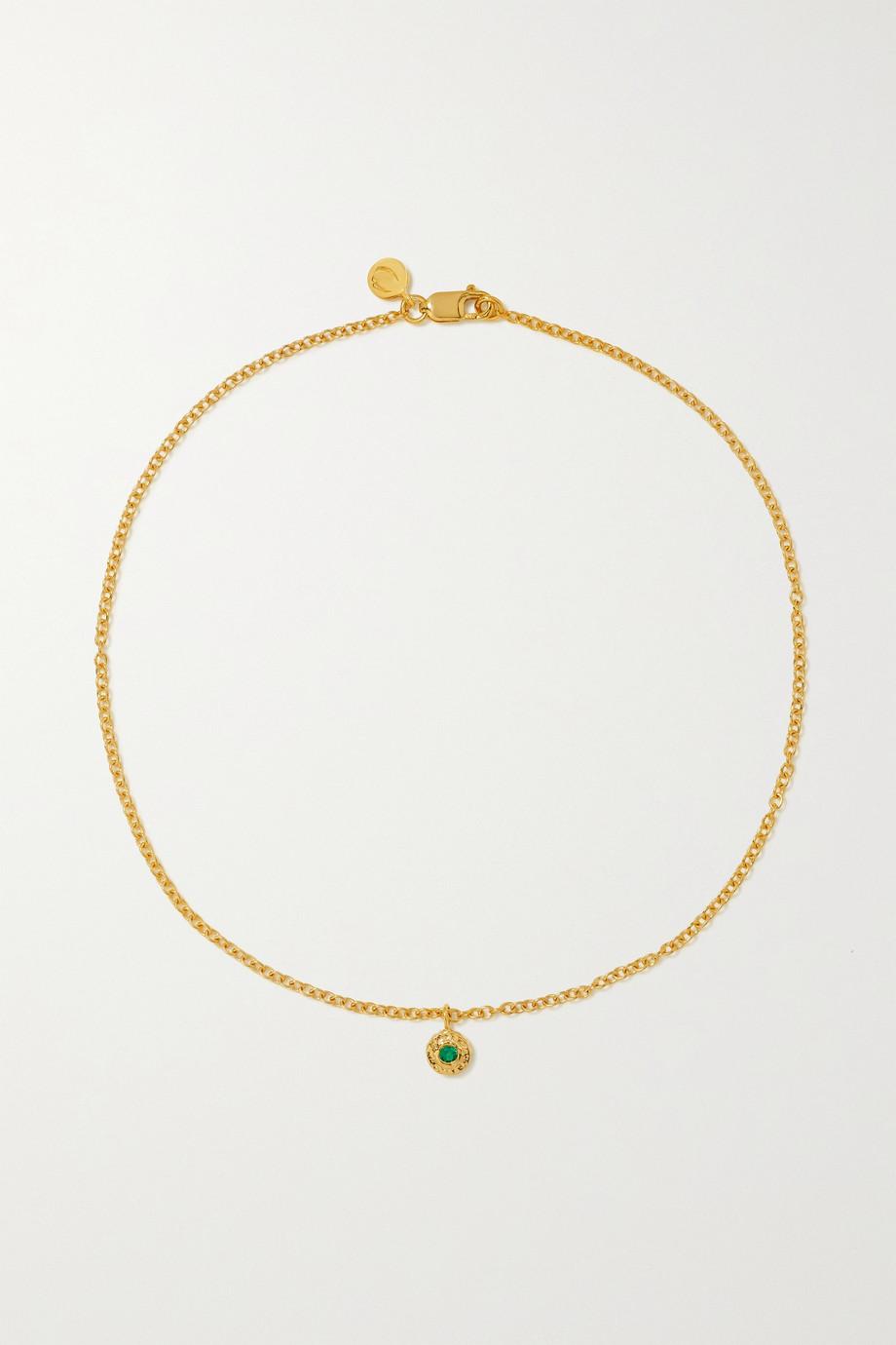 Octavia Elizabeth + NET SUSTAIN Nesting Gem 18-karat recycled gold emerald anklet