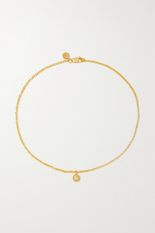 Octavia Elizabeth + NET SUSTAIN Nesting Gem 18-karat recycled gold diamond anklet