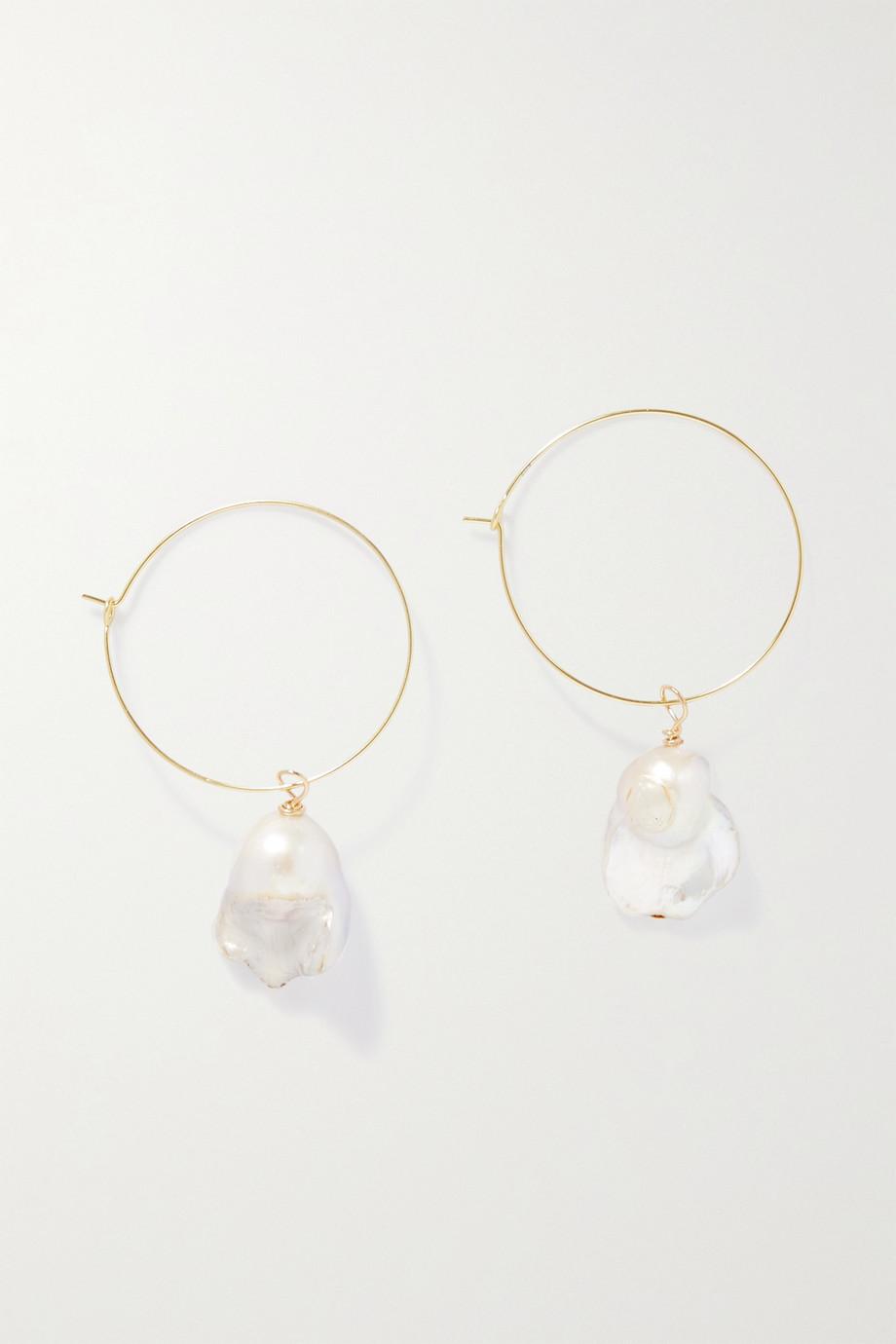 PEARL OCTOPUSS.Y Boucles d'oreilles en plaqué or et perles