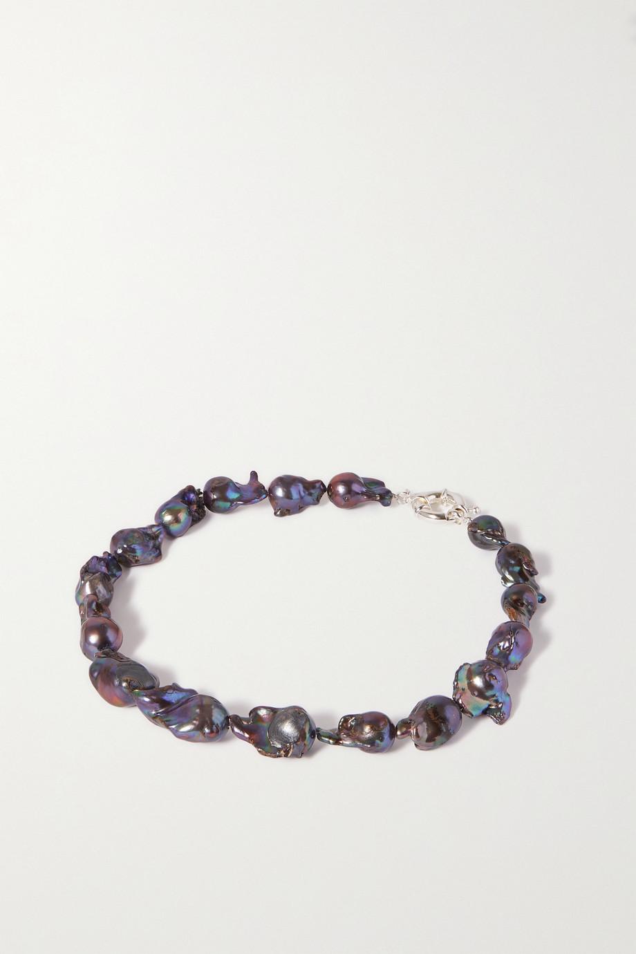 PEARL OCTOPUSS.Y Perlenkette mit versilberten Details
