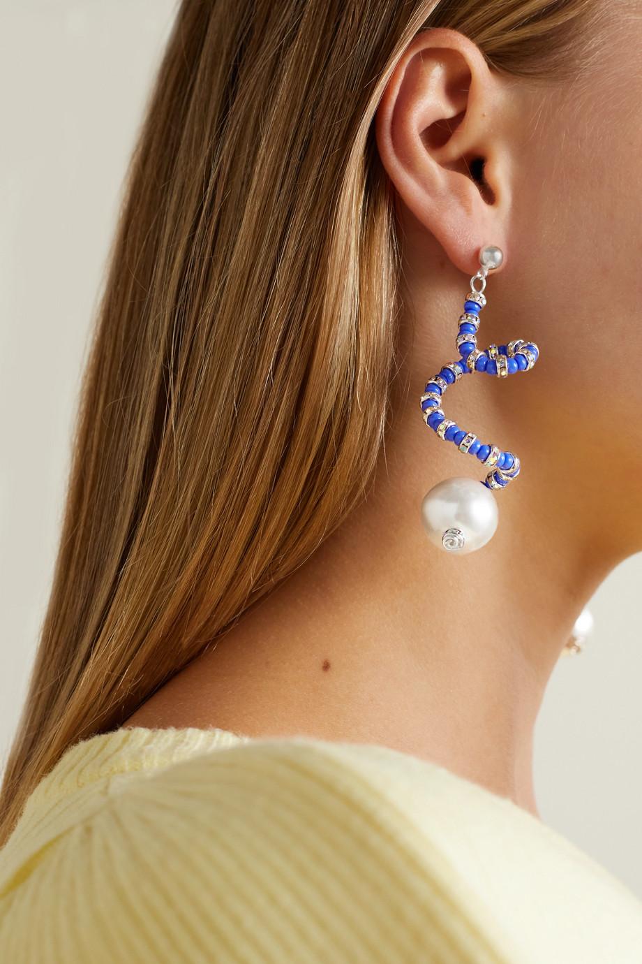 PEARL OCTOPUSS.Y Klein silver-plated multi-stone earrings