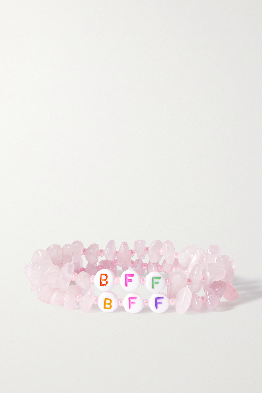 TBalance Crystals Set de deux bracelets en quartz et émail BFF