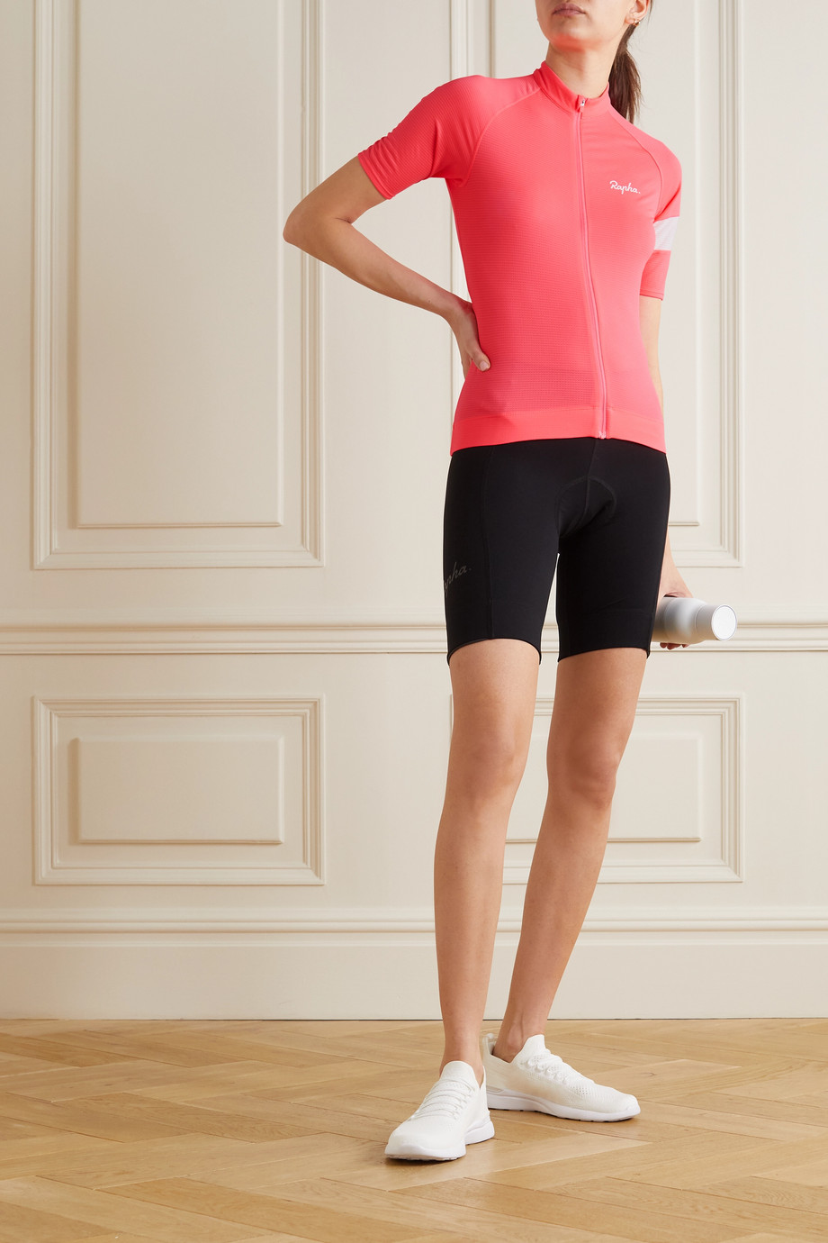 Rapha Core Lightweight recycled mesh and stretch-knit cycling jersey