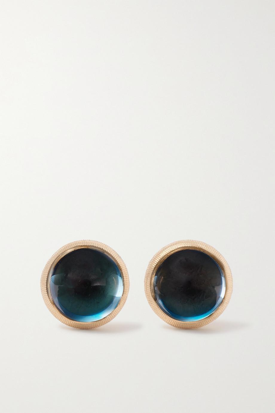 OLE LYNGGAARD COPENHAGEN Lotus 18-karat gold topaz earrings