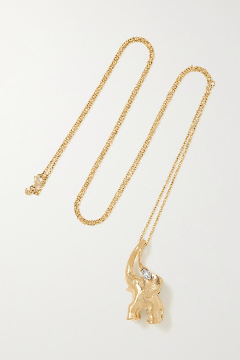 OLE LYNGGAARD COPENHAGEN My Little World Kette aus 18 Karat Gold mit Diamanten