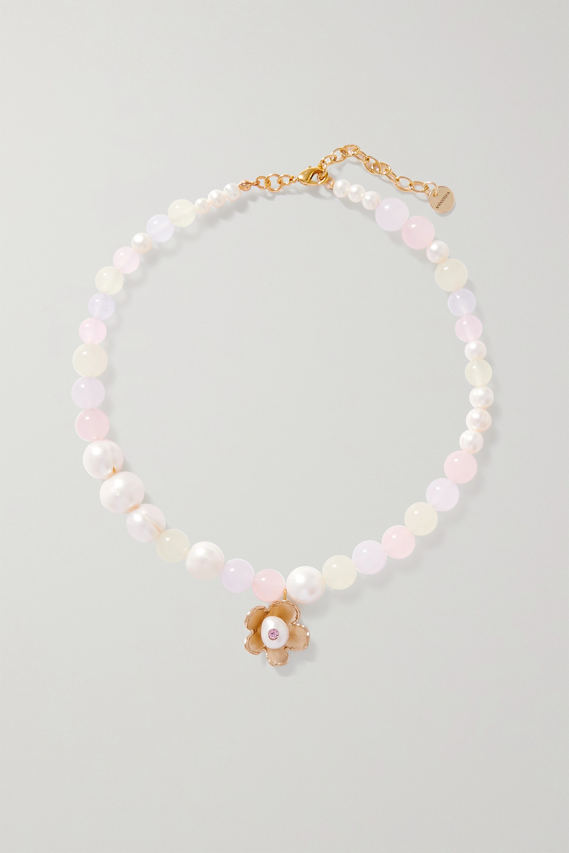 Anita Berisha - Pastel Dreams gold-plated multi-stone necklace