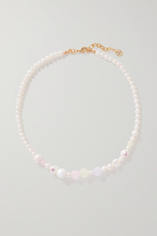Anita Berisha - Pink Sunset gold-plated multi-stone necklace