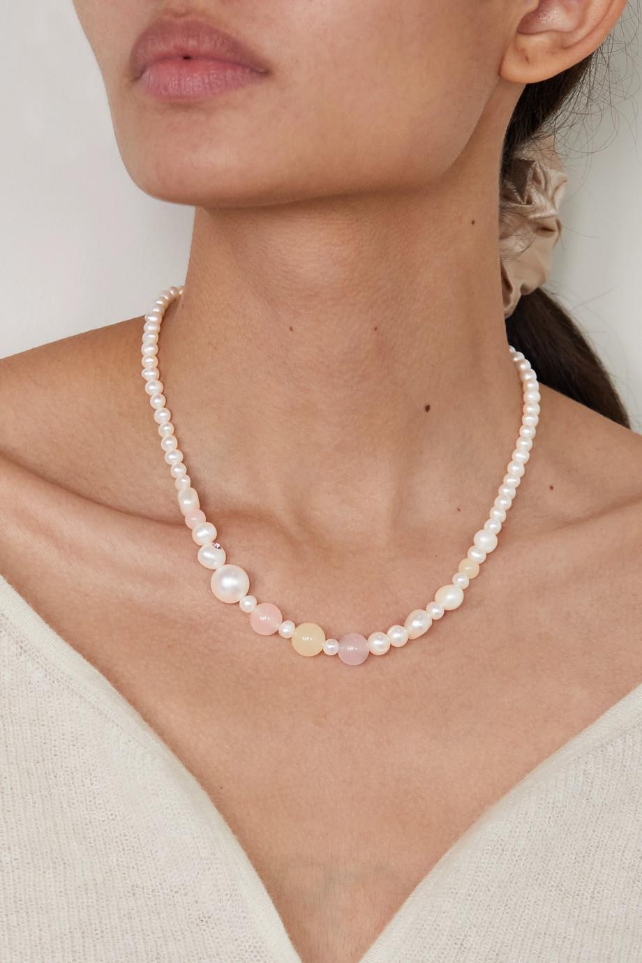 Anita Berisha Collier en plaqué or et pierres multiples Pink Sunset
