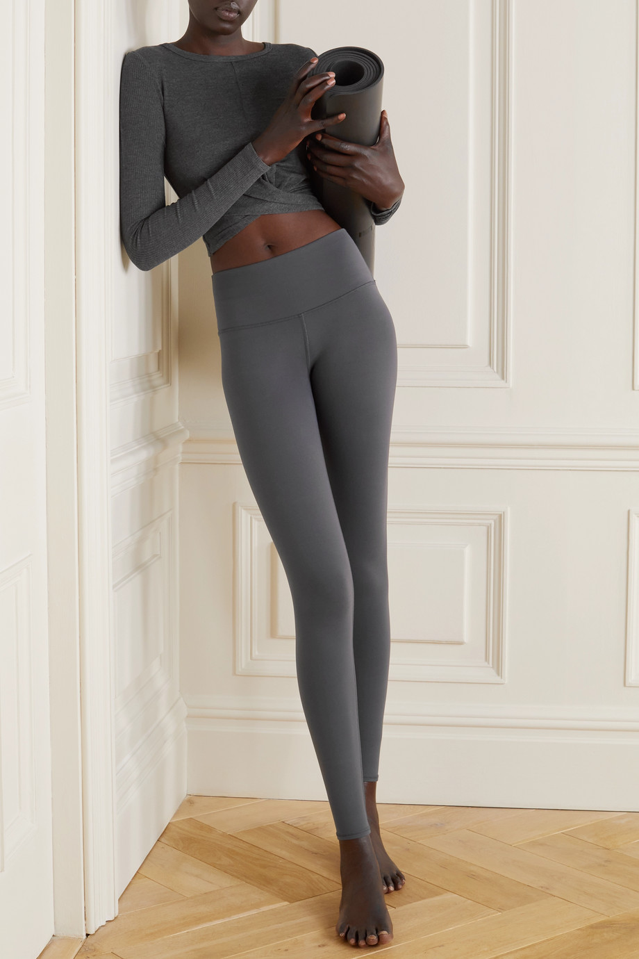 Alo Yoga Cover twisted ribbed stretch-modal jersey top