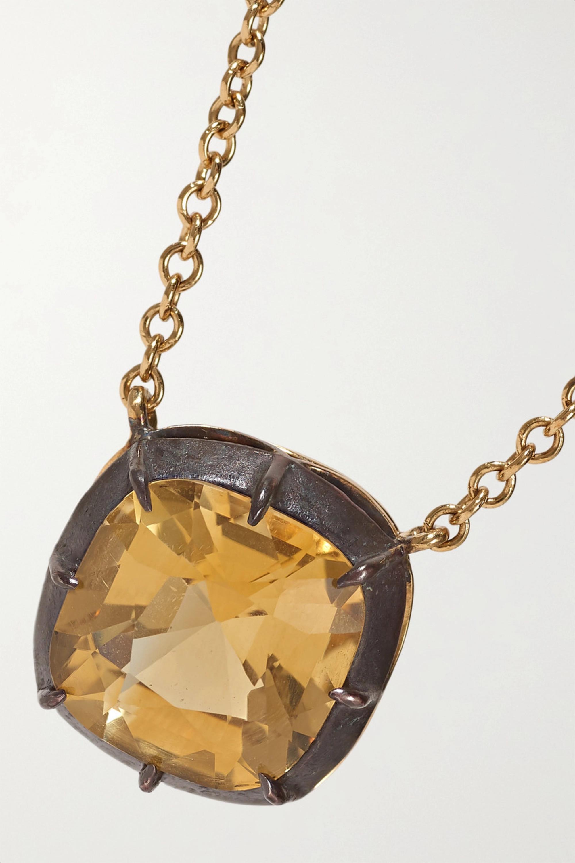 Fred Leighton Collection Kette aus 18 Karat Gold und Silber mit Citrin
