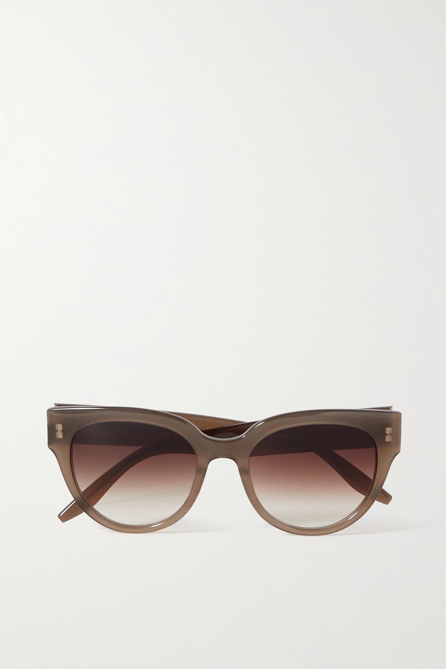 unknown Syrinx Sonnenbrille mit Cat-Eye-Rahmen aus Azetat