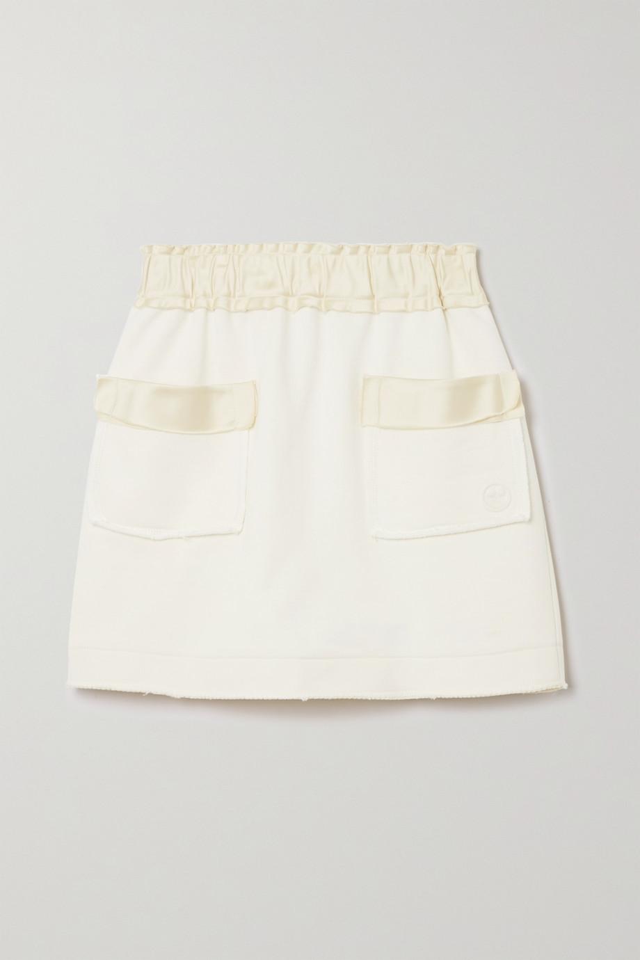 AZ Factory Mini-jupe en coton biologique et SeaCell mélangés Free To