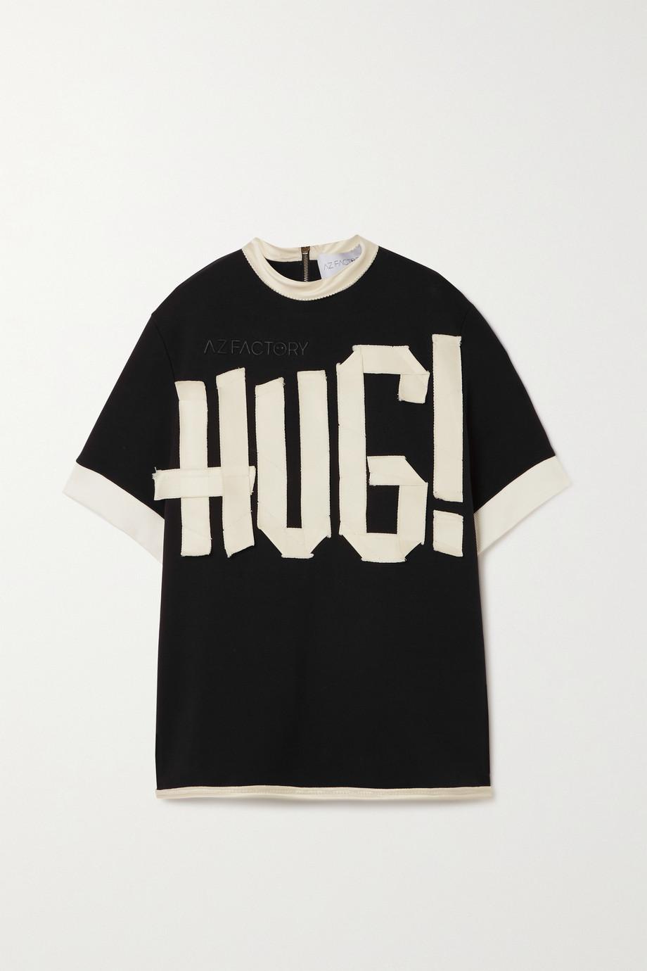 AZ Factory T-shirt en jersey de coton biologique à appliqués Free To