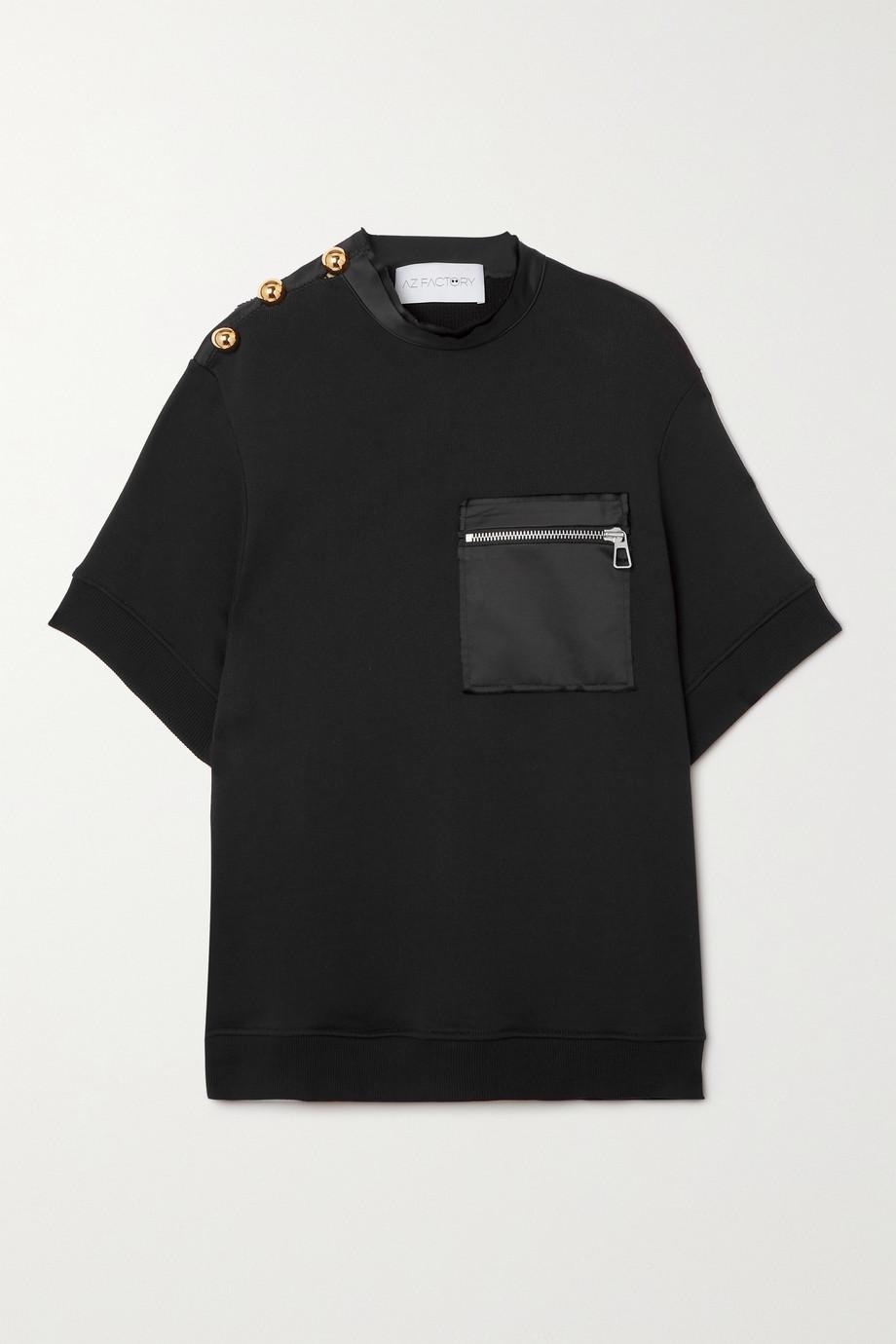 AZ Factory T-shirt oversize en jersey de coton biologique et PYRATEX SeaCell mélangés Free To