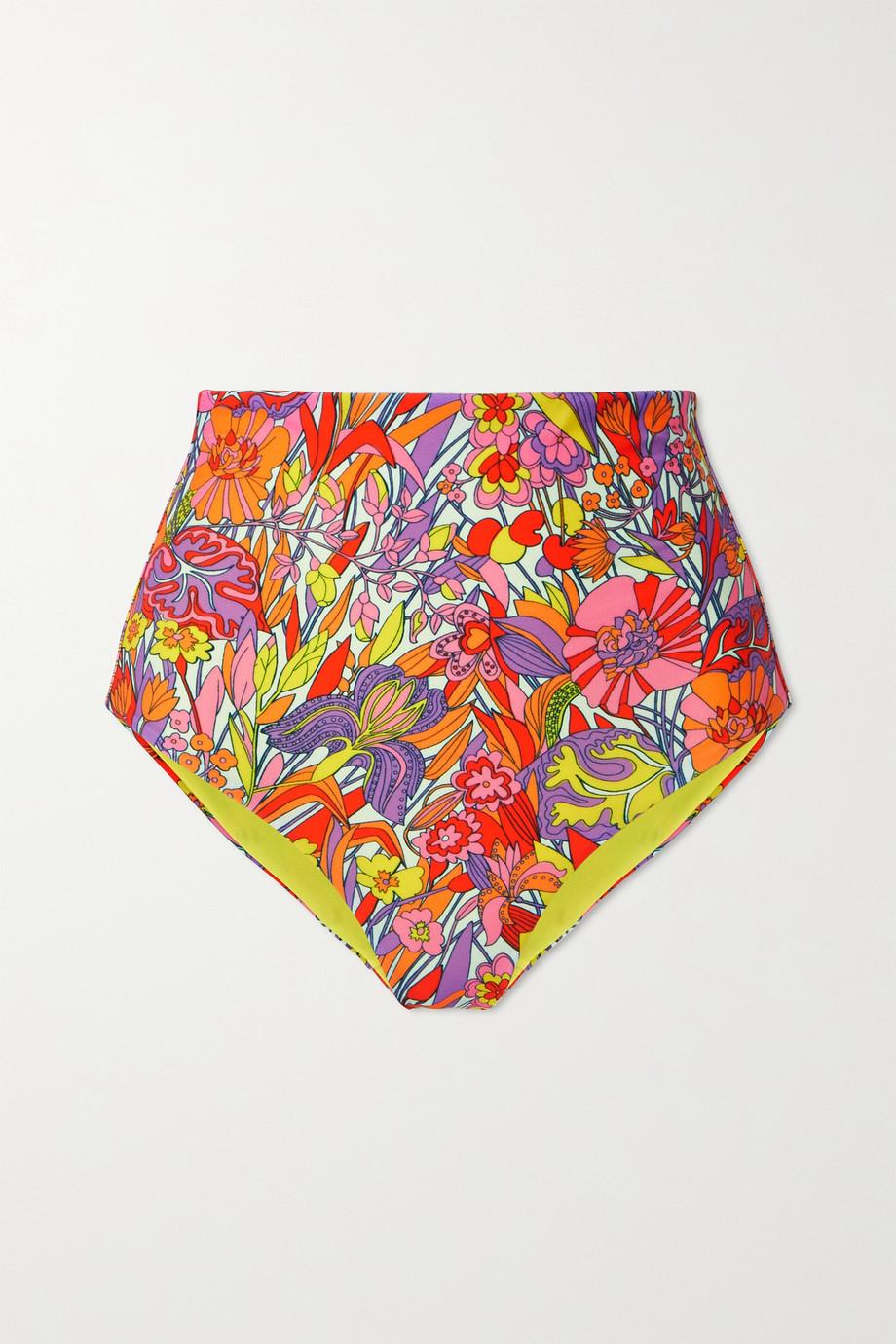 La DoubleJ Surf floral-print bikini briefs