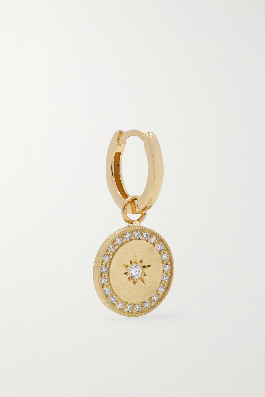 Andrea Fohrman Boucle d'oreille unique en or 18carats (750/1000) et diamants