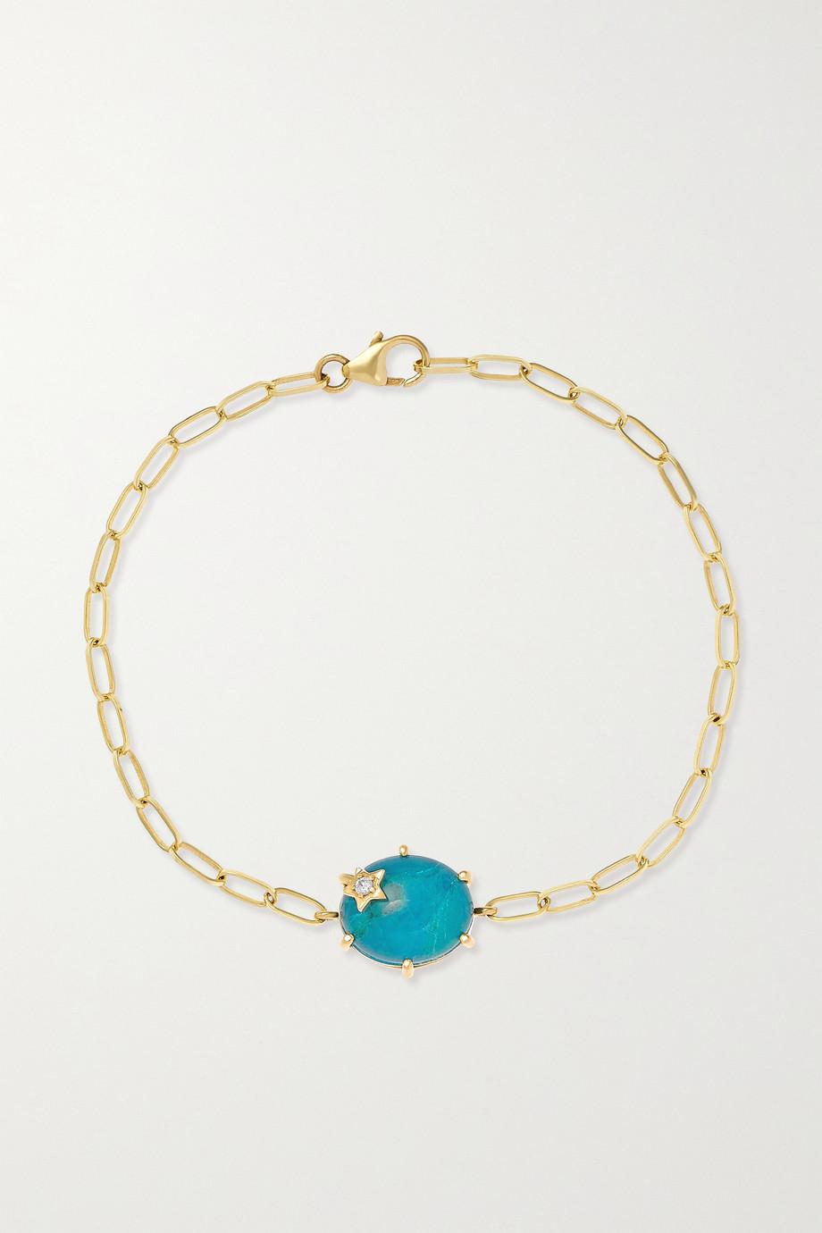 Andrea Fohrman Mini Galaxy 14-karat gold multi-stone doublet bracelet