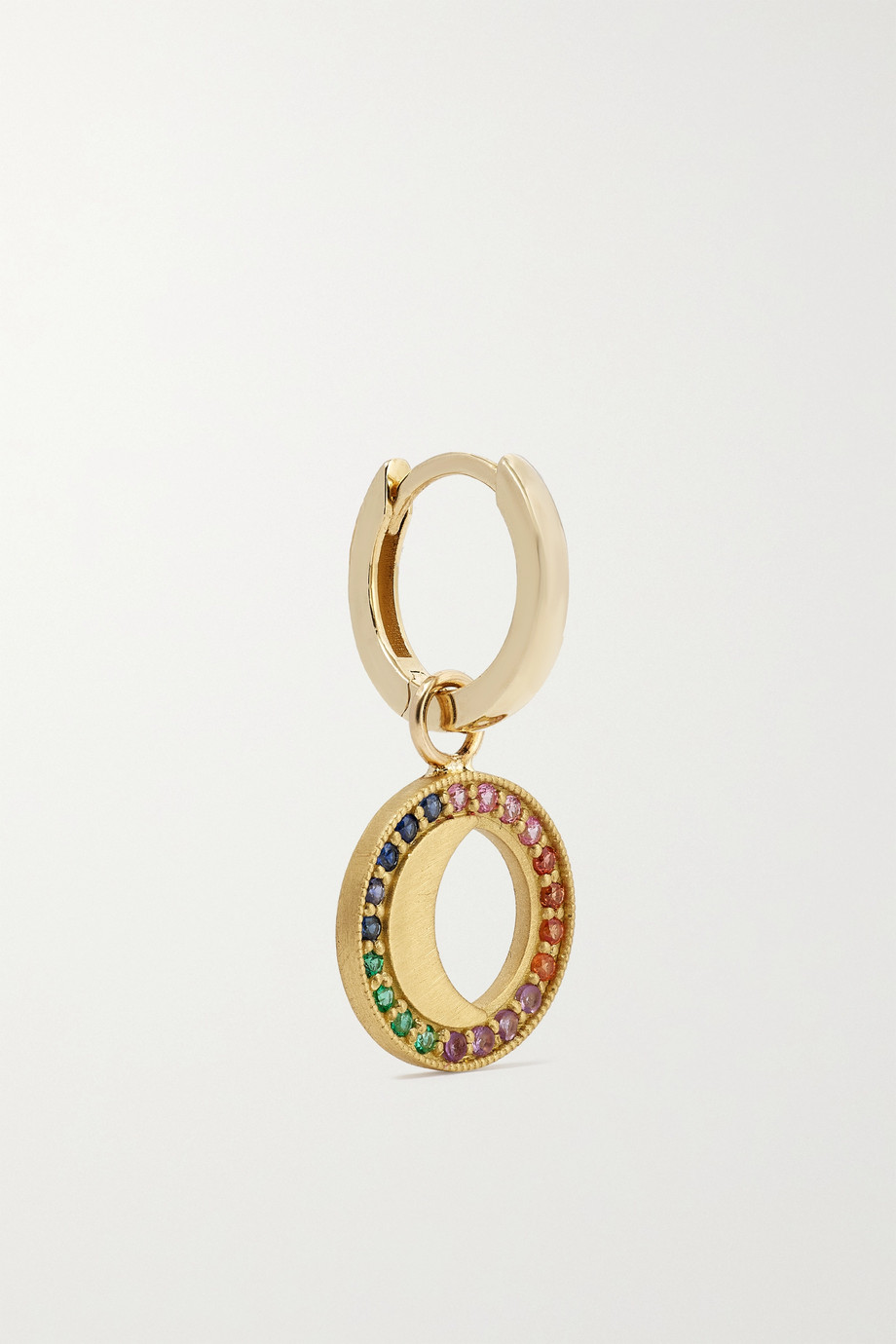 Andrea Fohrman Boucle d'oreille unique en or 18 carats (750/1000) et 14 carats (585/1000) et pierres multiples