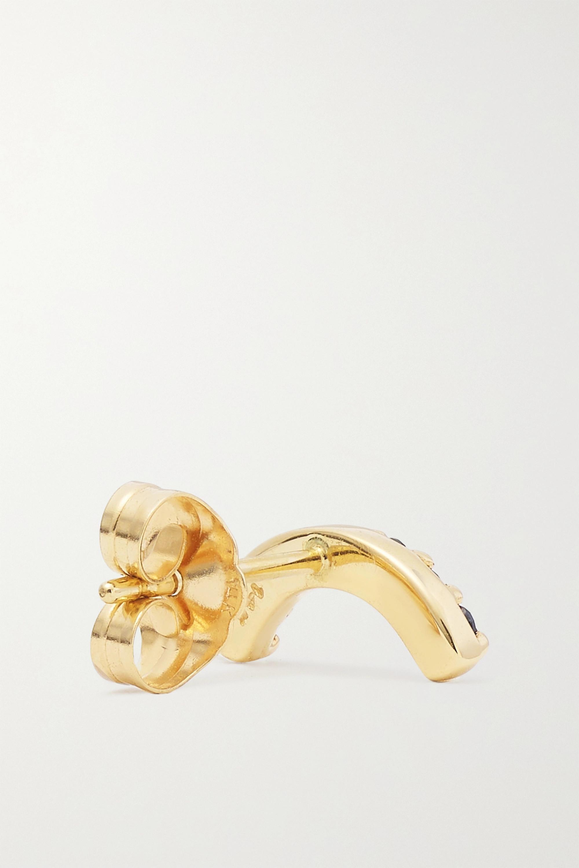 Andrea Fohrman Boucle d'oreille unique en or 14 carats (585/1000) et saphirs