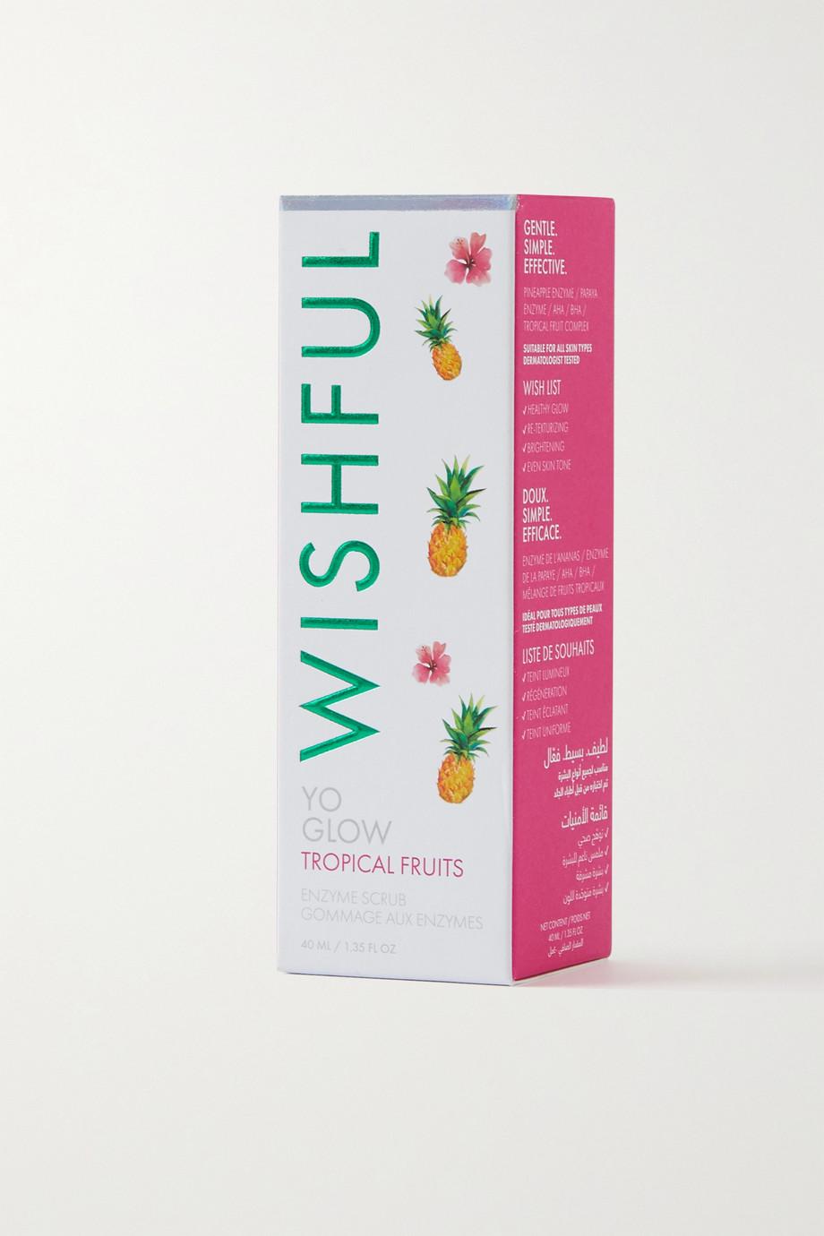 Huda Beauty Wishful Yo Glow Tropical Fruits Enzyme Scrub, 40 ml – Peeling