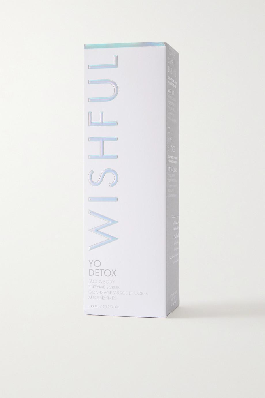 Huda Beauty Wishful Yo Detox Face and Body Enzyme Scrub, 100 ml – Enzympeeling für Gesicht und Körper