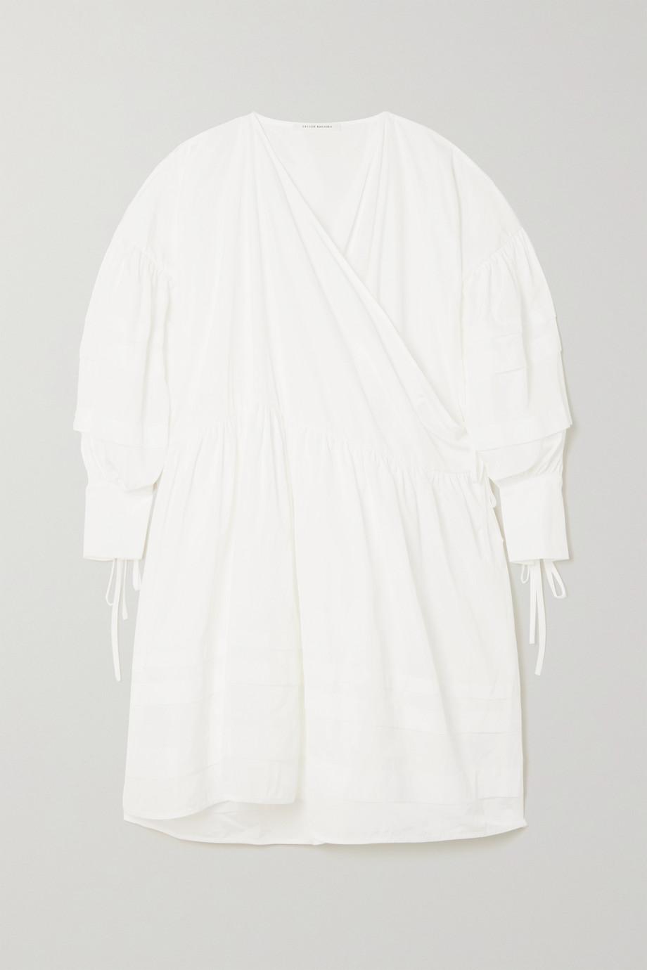 Cecilie Bahnsen Robe portefeuille oversize en faille recyclée Amalie Edition