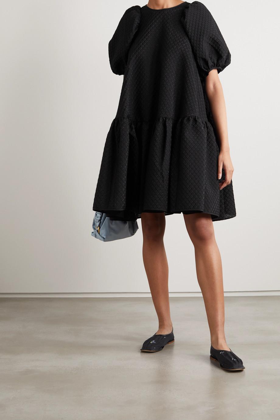 Cecilie Bahnsen Alexa Oversized-Minikleid aus Cloqué aus einer Baumwollmischung