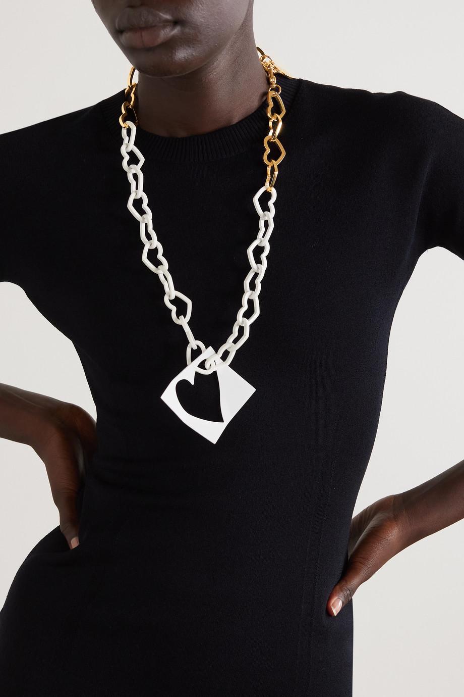 AZ Factory J'Adore Les Cœurs gold- and silver-tone necklace