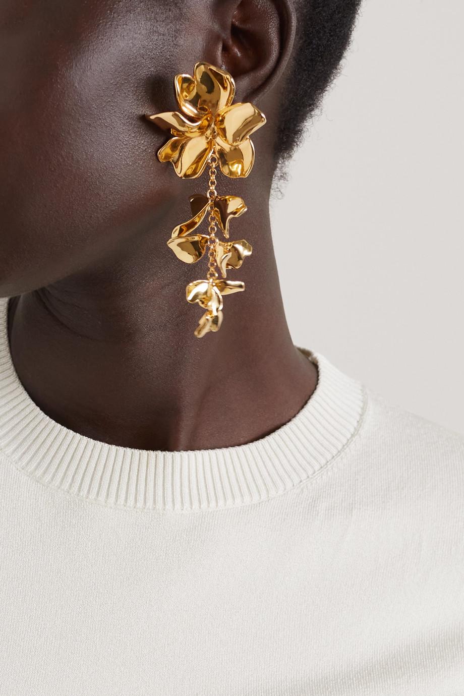 AZ Factory Wildflower gold-tone earrings