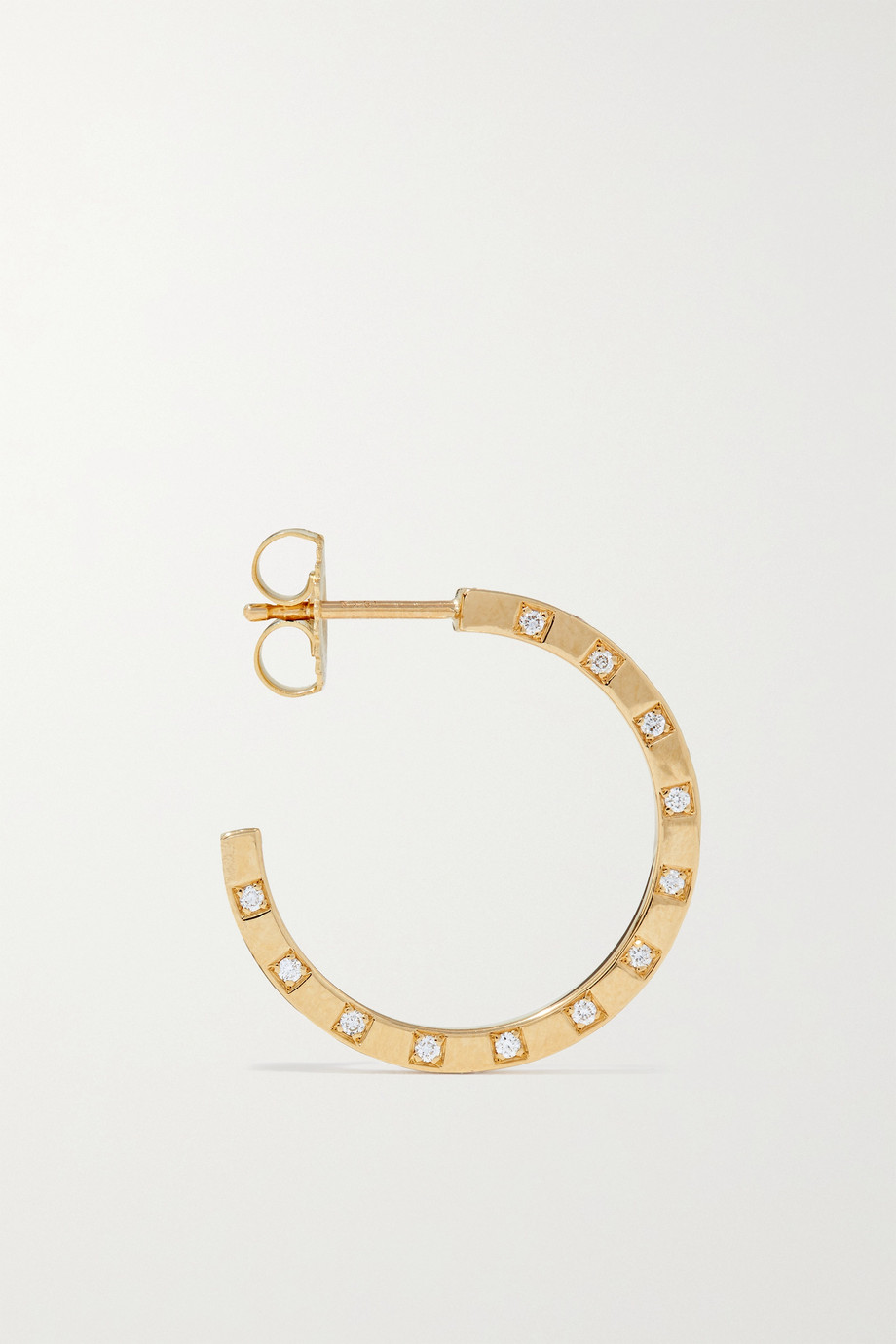 ᾹZLEE 18-karat gold diamond hoop earrings