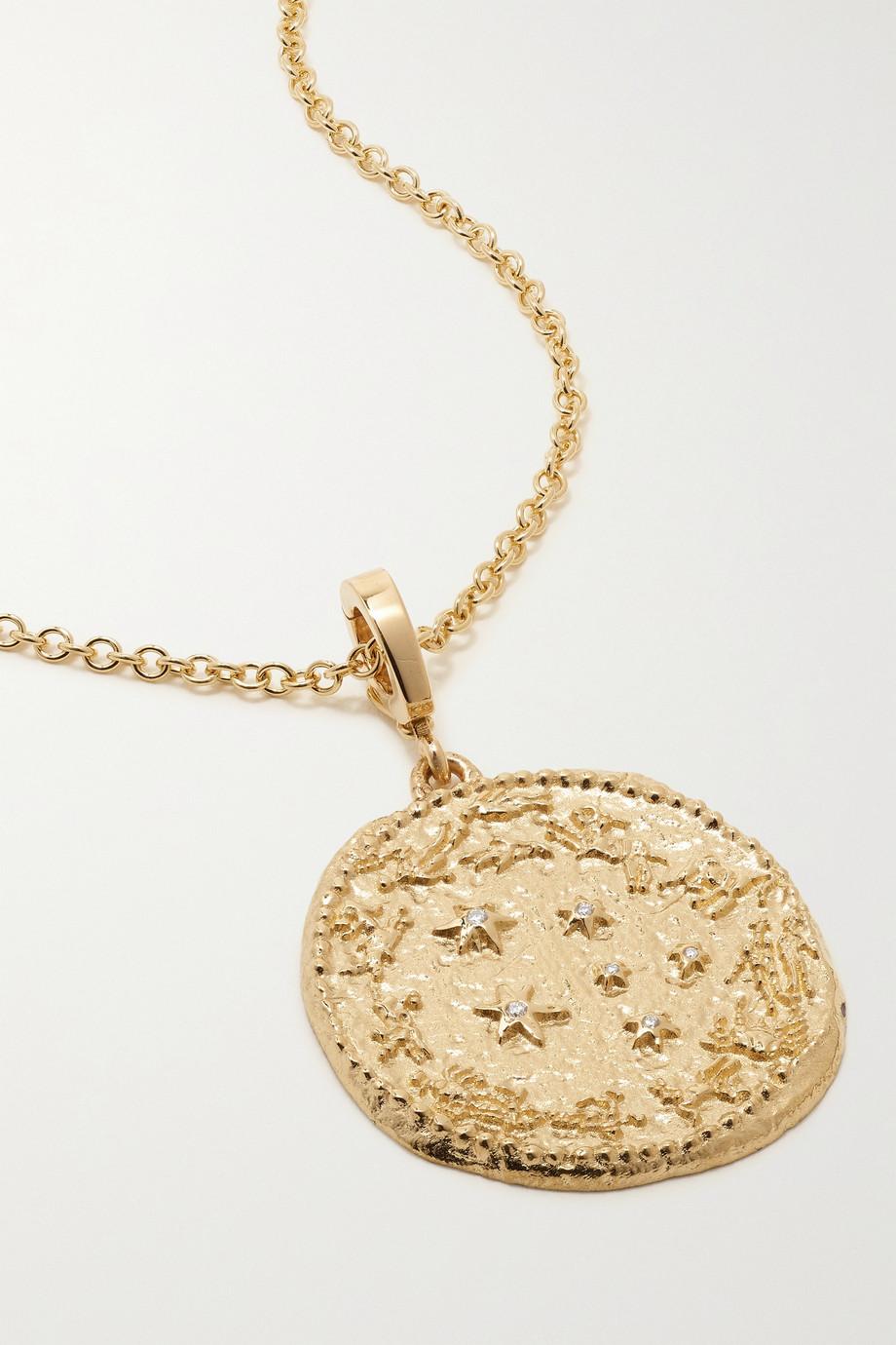 ᾹZLEE Zodiac 18-karat gold diamond necklace