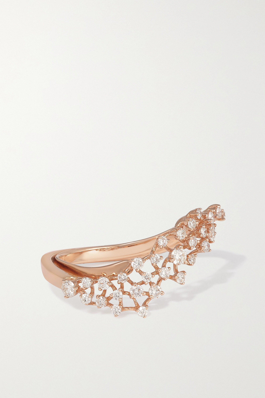 ANANYA - Scatter 18-karat rose gold diamond ring