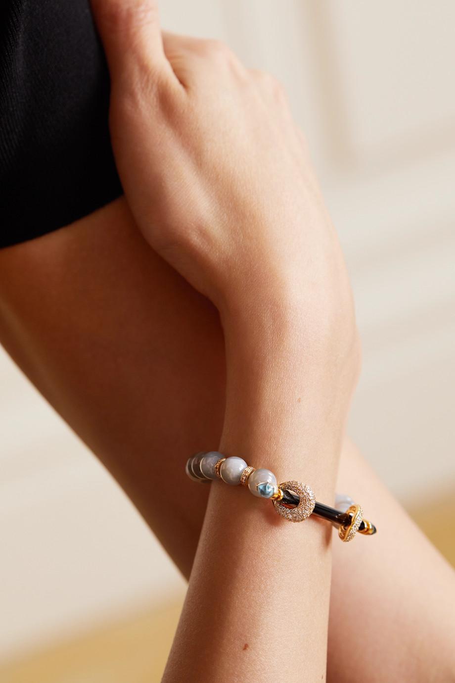 ANANYA Bracelet en or 18 carats (750/1000) et pierres multiples
