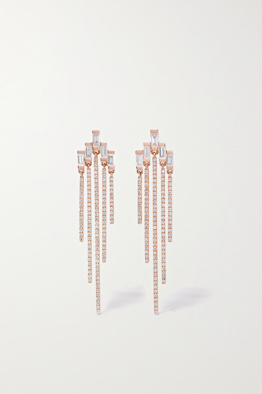 SHAY Ohrstecker aus 18Karat Roségold mit Diamanten