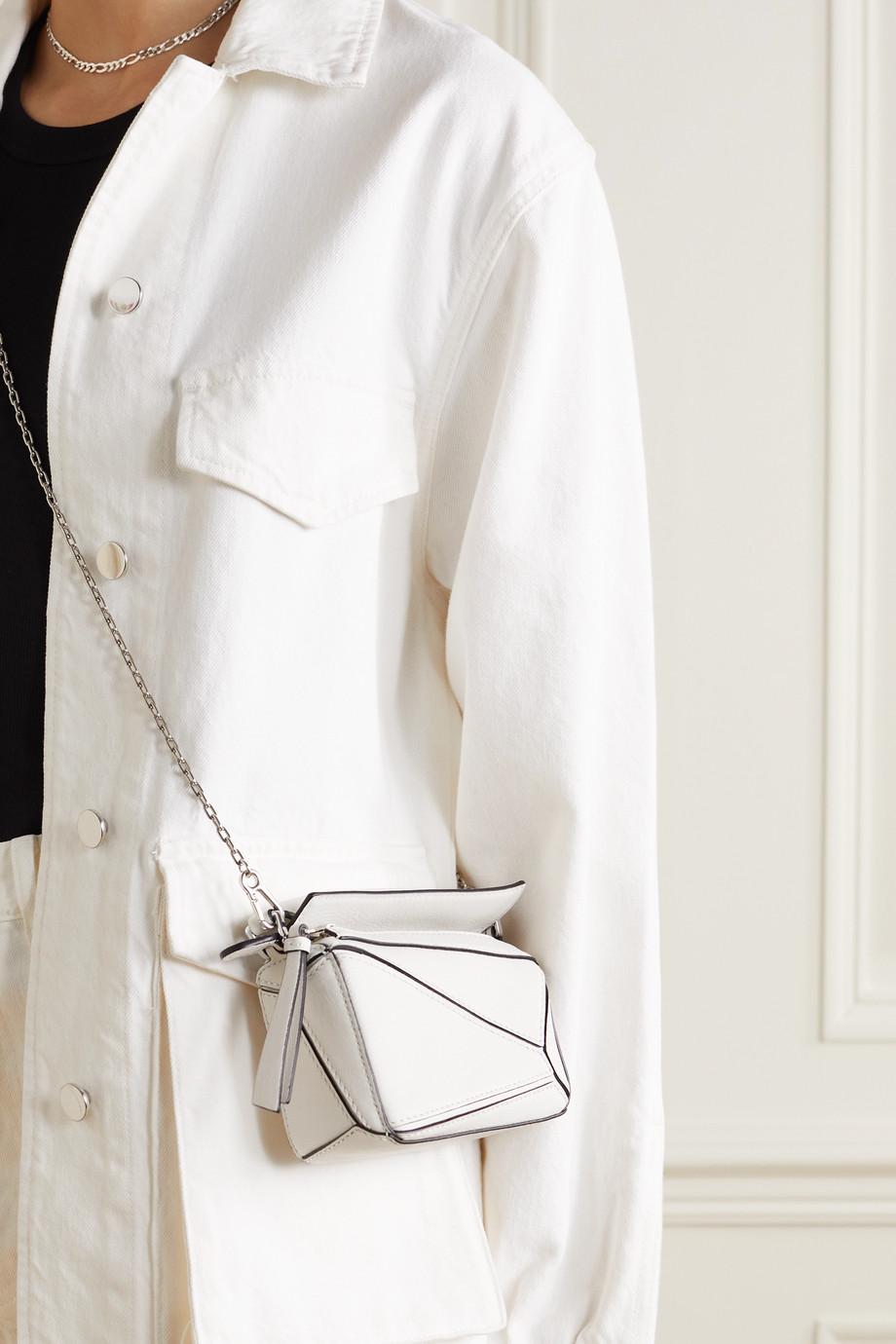Loewe Sac porté épaule en cuir Puzzle Nano