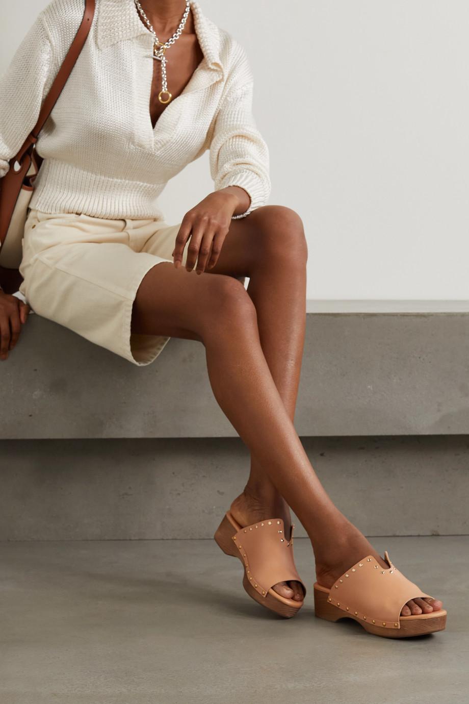 Ancient Greek Sandals Sagini leather platform clogs