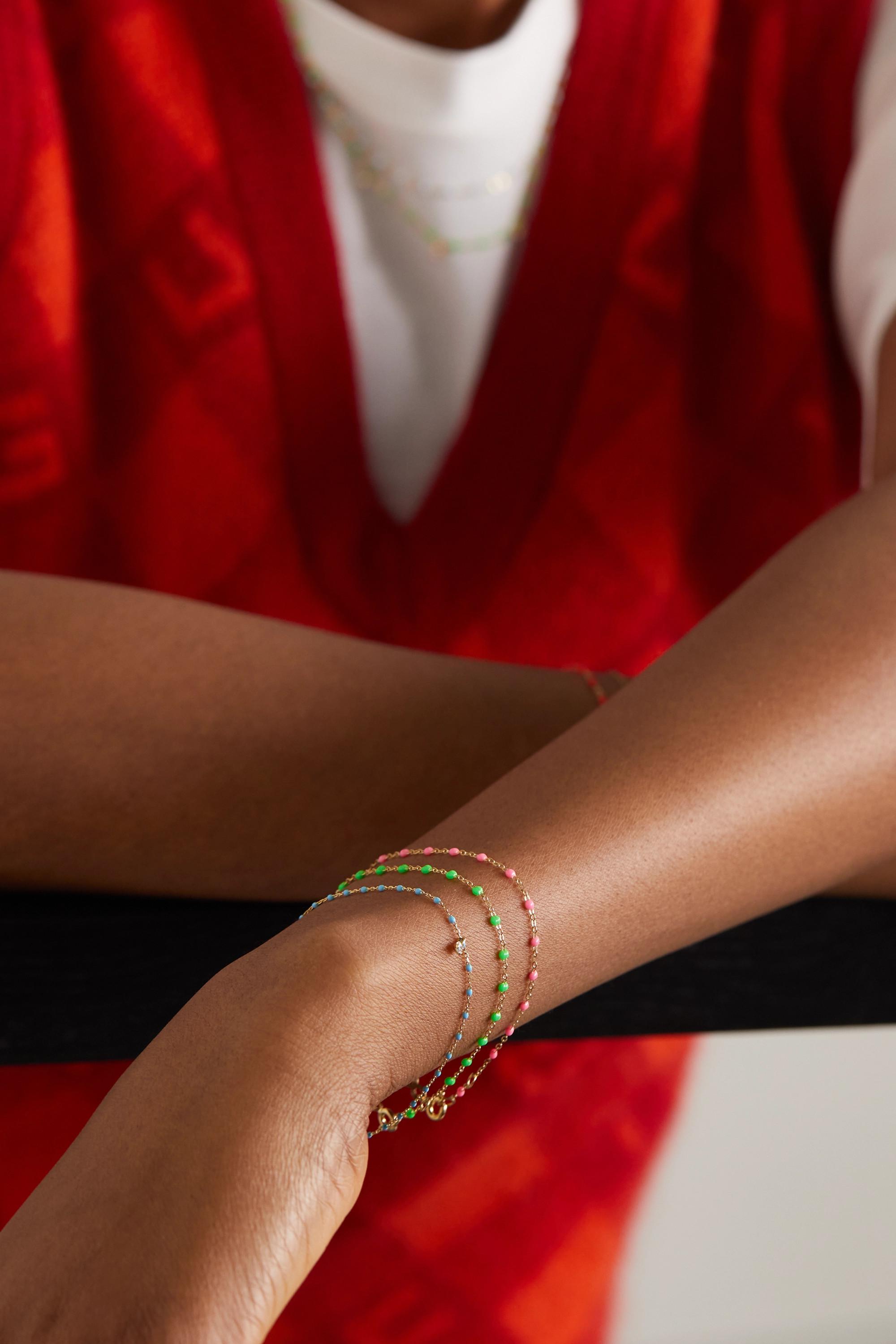 gigi CLOZEAU Bracelet en or 18 carats (750/1000) et résine Classic Gigi
