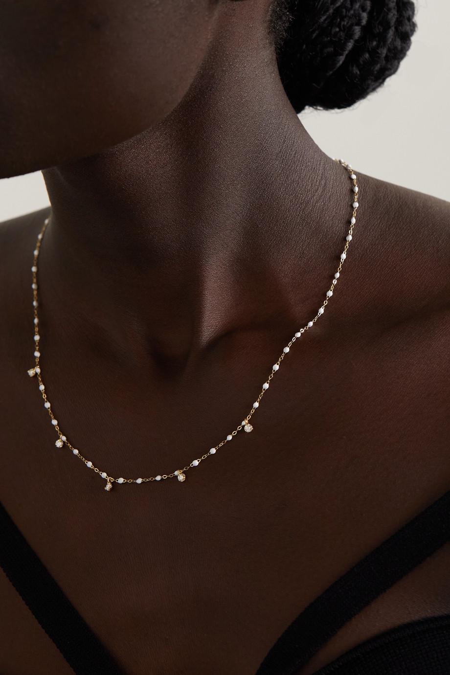 gigi CLOZEAU Collier en or 18 carats (750/1000), résine et diamants Gigi Supreme