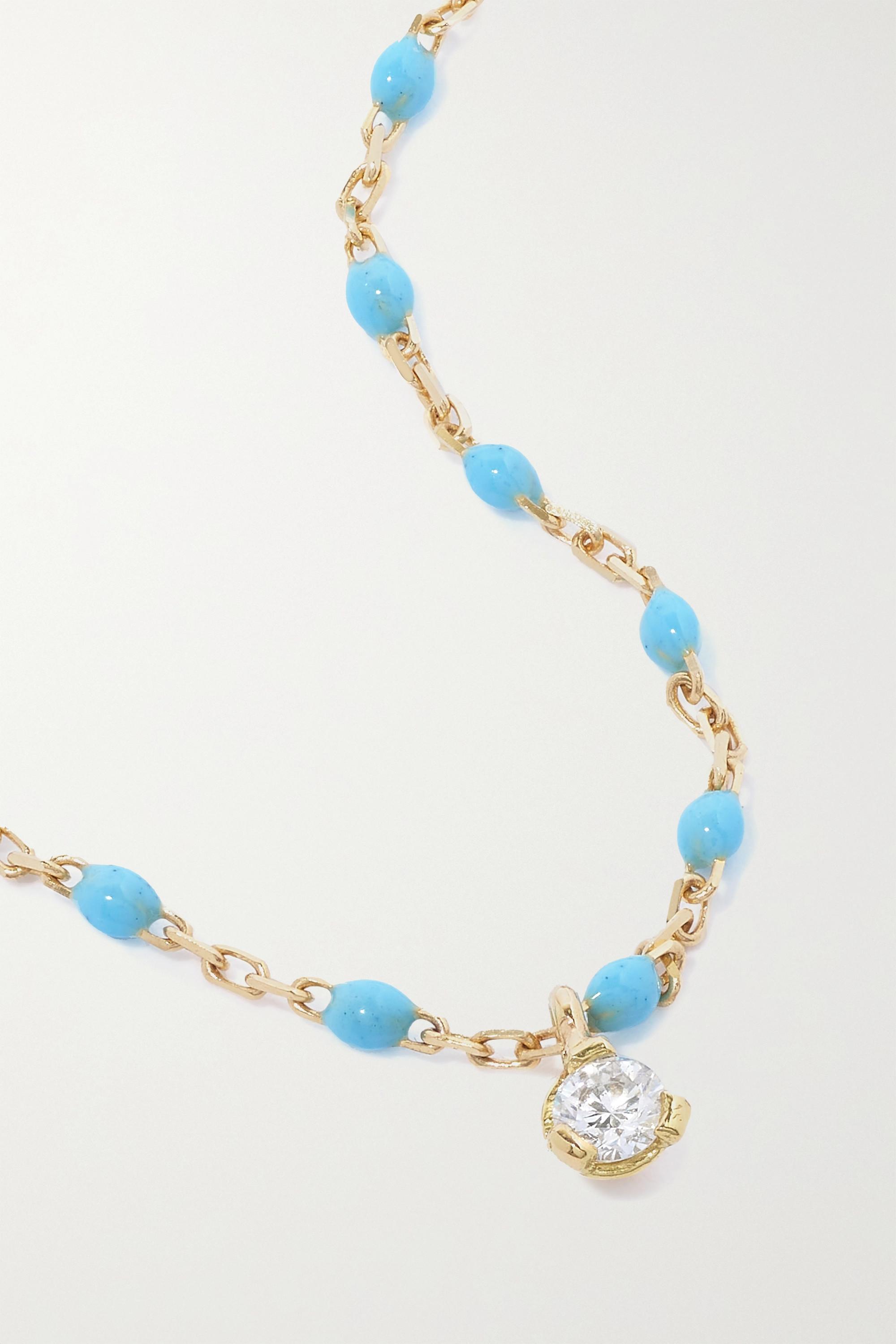 gigi CLOZEAU Bracelet en or 18 carats (750/1000), résine et diamant Gigi Mini