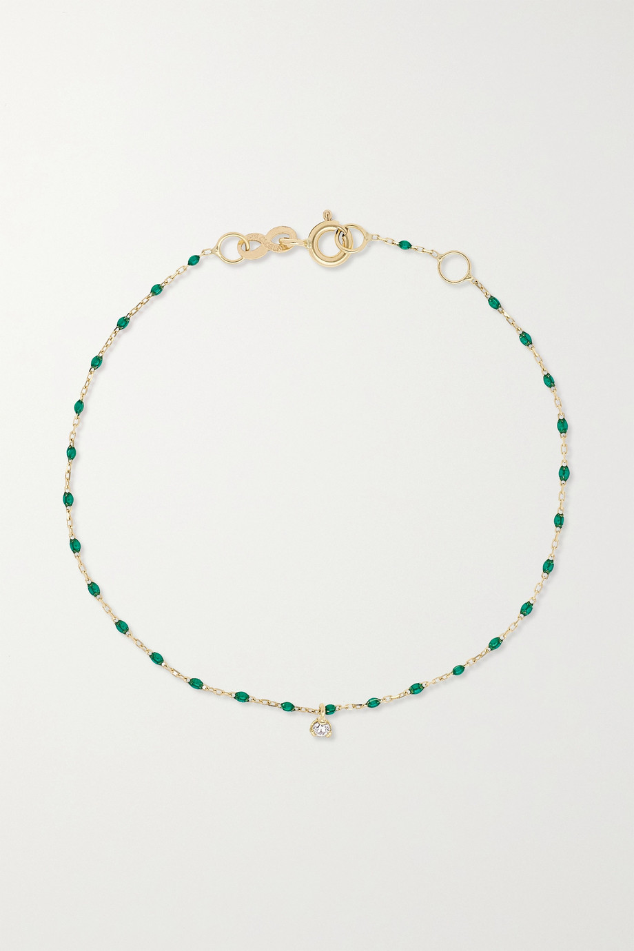 gigi CLOZEAU Mini Gigi Armband aus 18 Karat Gold mit Harz und Diamant
