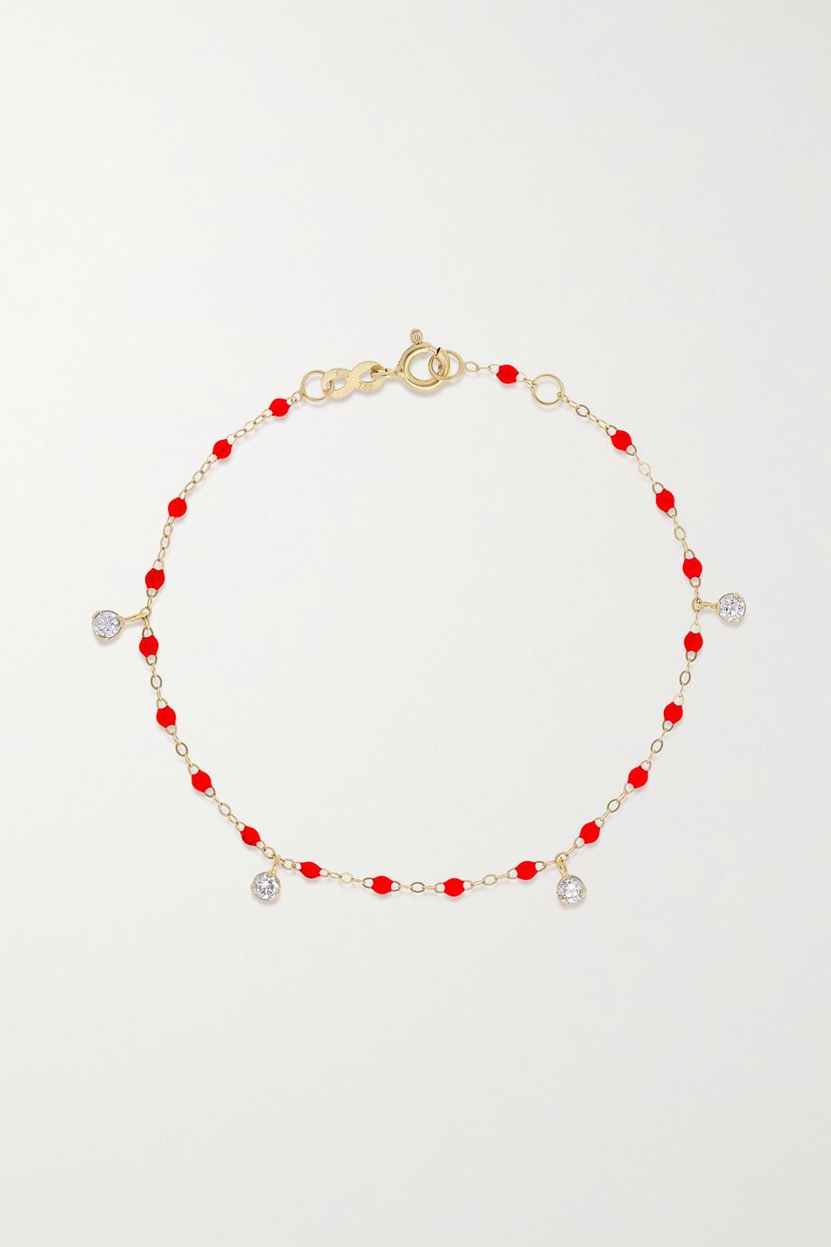 gigi CLOZEAU Gigi Supreme Armband aus 18 Karat Gold mit Harz und Diamanten