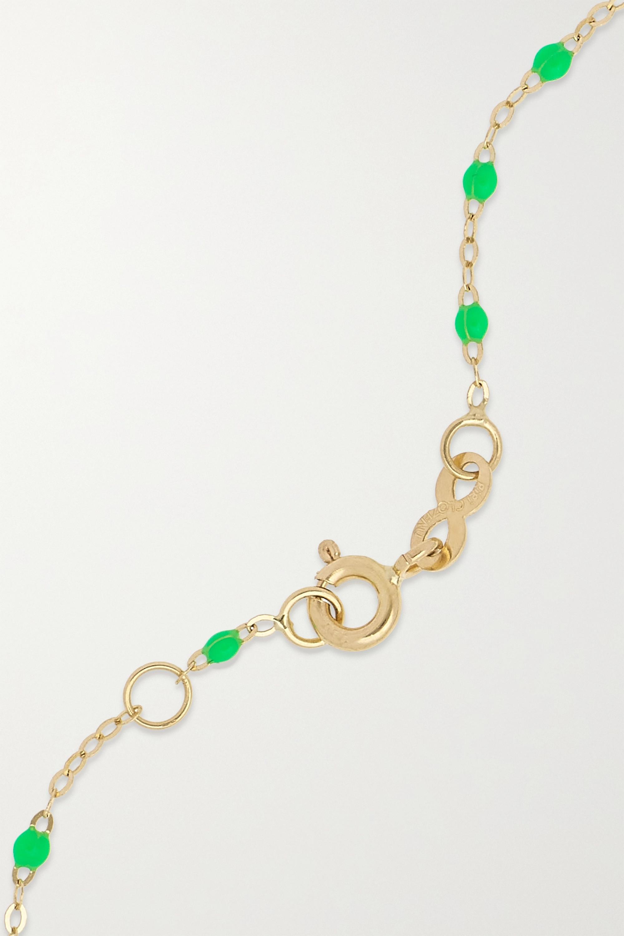 gigi CLOZEAU Madone Classic Gigi Armband aus 18 Karat Gold mit Harz