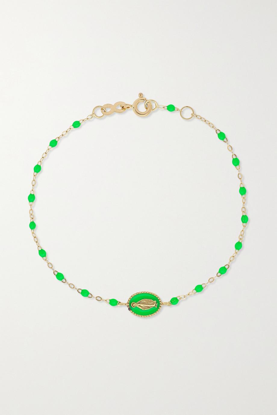 gigi CLOZEAU Madone Classic Gigi 18-karat gold and resin bracelet