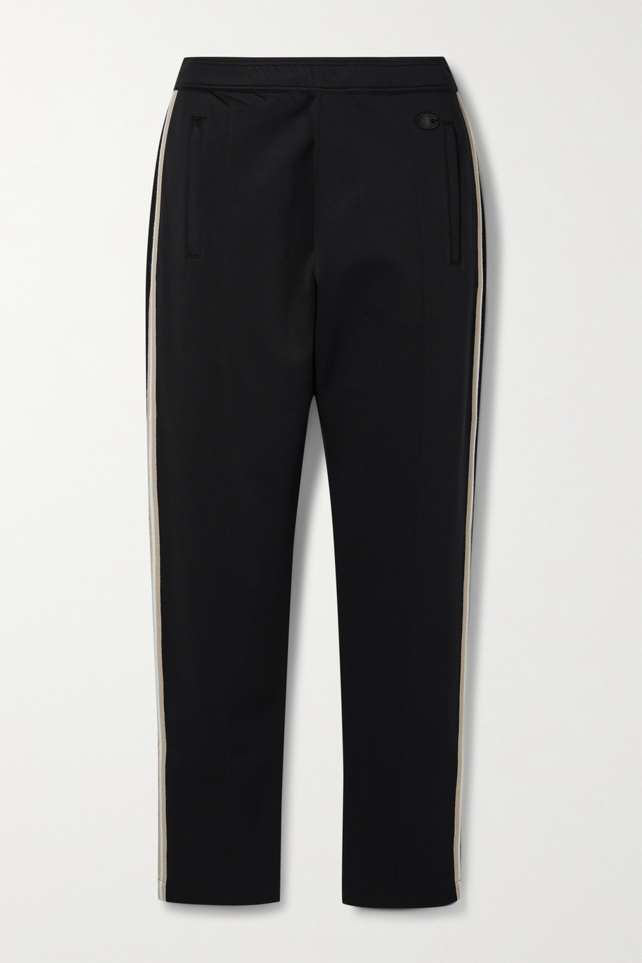 Nili Lotan + Champion appliquéd striped stretch-jersey track pants