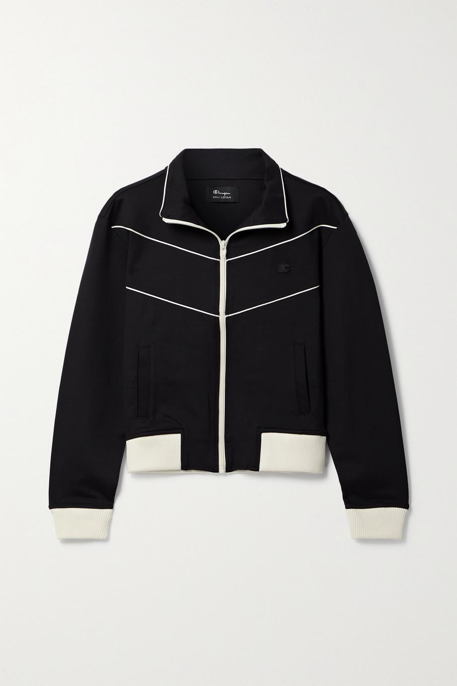 Nili Lotan + Champion Trainingsjacke aus Stretch-Jersey mit Applikation
