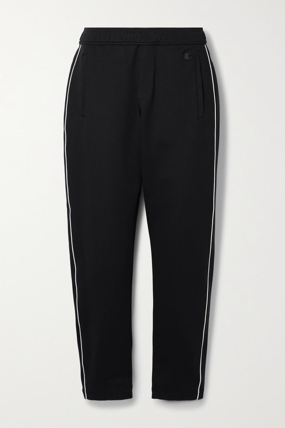 Nili Lotan + Champion appliquéd stretch-jersey track pants